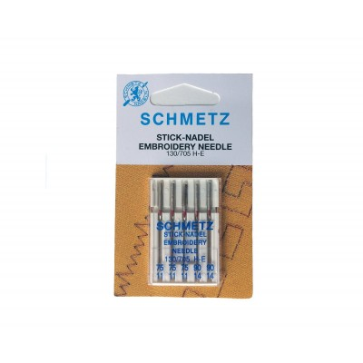 SCHMETZ EMBROIDERY NEEDLES #75/11 -  #90/14