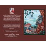 ONE OF A KIND ART CARD WITH OWL (CA026), FREE SHIPPING/Select Pickup from Store