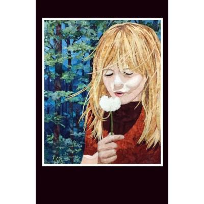 CARTE D'ART TEXTILE (CA028), LIVRAISON GRATUITE/Choisir Cueillette en Magasin