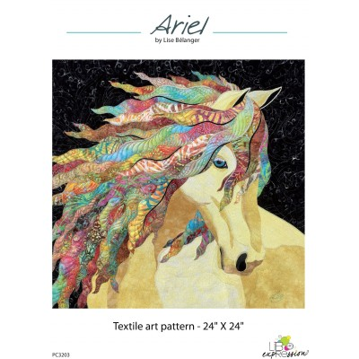 ART QUILT PATTERN, Advance pattern with colour pictures, FREE SHIPPING / select pick up from store and I will mail it.