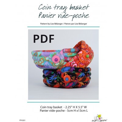 Coin tray basket pattern PDF