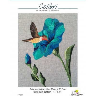 ART QUILT PATTERN for beginners with color photos instructions
