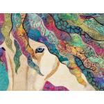 Courtepointe artistique avec cheval ANANCHEL / GRÂCE, Livraison Gratuite mettre cueillette en magasin peut importe votre location.