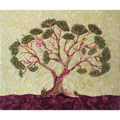 "TEXTILE ART ""Life in a Tree"""