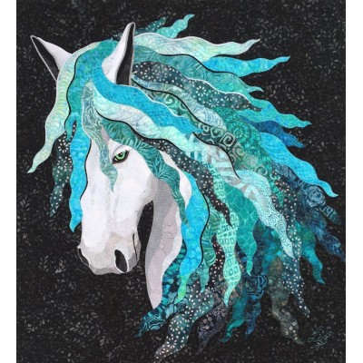 Art Quilt with Horse  BARACHIEL / LUCK,  Free shipping Canada, U.S, take pick up in store