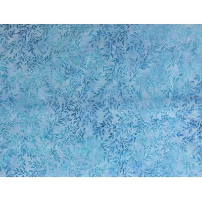Batik Fabric Elementals Leaflets /Water Robert Kaufman